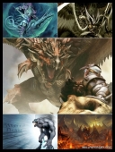 30 Mythical Creatures from Ancient World Darkside Wallpapers { SET-4 } [Mix Res][.jpg]