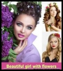 Raster clipart - Fotolia - Beautiful girl with flowers [JPG]