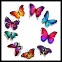 Raster clipart - Colored butterflies [PNG]