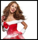 Raster clipart - Fotolia - Santa Girl with Christmas Gifts on White Background 2 [JPG]